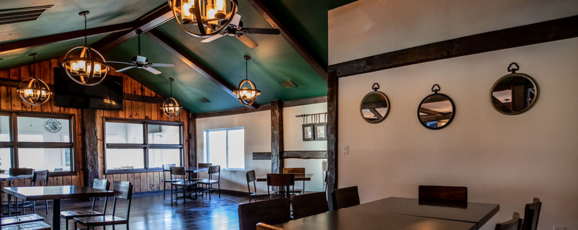 interior shot - dining room at The Wood in Baldwinsville, NY